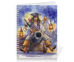 """Тетрадь на пружине """"Поедем, красотка, кататься."""" - любовь, арт, пират, джек воробей, пираты карибского моря"""