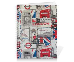"Тетрадь на пружине ""London"" - london, лондон, англия, england, uk"