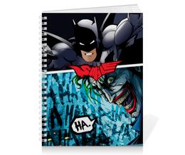 "Тетрадь на пружине ""SMILE (Batman vs. Joker)"" - joker, batman, джокер, бэтмен, mortal kombat"