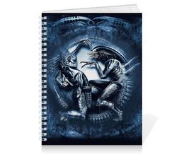 """Тетрадь на пружине """"Чужой против Хищника / Alien vs Predator"""" - хищник, рисунок, кино, чужой"""