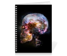 """Тетрадь на пружине """"Universe skull"""" - череп, вселенная, космос, skull, space"""