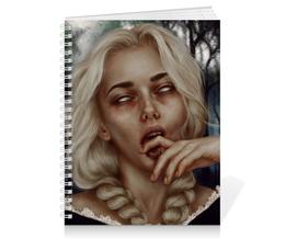 """Тетрадь на пружине """"Gothic Girl"""" - готика, арт, рисунок, дизайн, графика"""
