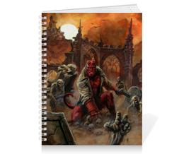 """Тетрадь на пружине """"Хеллбой"""" - комиксы, демон, hellboy, хеллбой, dark horse comics"""