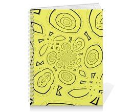 """Тетрадь на пружине """"Асимметрия"""" - желтый, абстракция, digital art, спектр"""