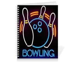 """Тетрадь на пружине """"BOWLING"""" - спорт, боулинг"""