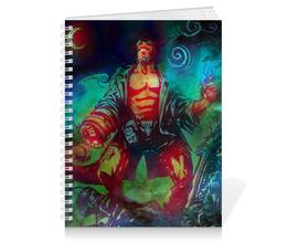 """Тетрадь на пружине """"Хеллбой"""" - комиксы, демон, хеллбой, hellboy, dark horse comics"""