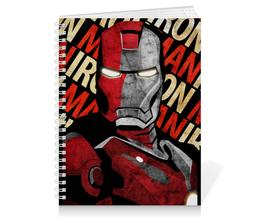 """Тетрадь на пружине """"IRON MAN"""" - железный человек, iron man, мстители, avengers, фэн-арт"""