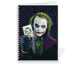 """Тетрадь на пружине """"Джокер"""" - joker, джокер, фэн-арт, отряд самоубийц, suicide squad"""