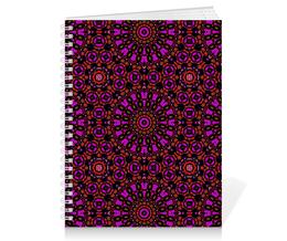 """Тетрадь на пружине """"purple"""" - узор, фиолетовый, абстракция, фигуры"""
