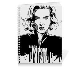 "Тетрадь на пружине ""Черная вдова"" - комиксы, мстители, avengers, марвел, black widow"
