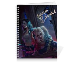 """Тетрадь на пружине """"Отряд самоубийц"""" - комиксы, харли квинн, dc comics, катана, suicide squad"""
