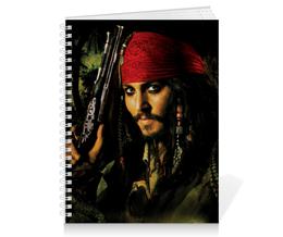 """Тетрадь на пружине """"Капитан Джек Воробей."""" - джонни депп, пират, капитан, джек воробей, пираты карибского моря"""