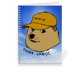 "Тетрадь на пружине ""DOGE WOW"" - мем, dog, собака, meme, doge"