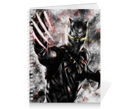 """Тетрадь на пружине """"Чёрная пантера / Black Panther"""" - рисунок, комиксы, пантера, марвел"""