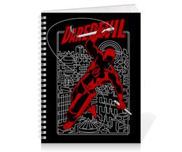 """Тетрадь на пружине """"Сорвиголова"""" - комиксы, супергерои, marvel, daredevil, сорвиголова"""