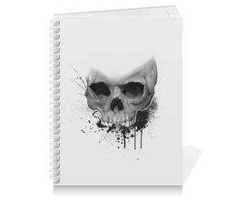 "Тетрадь на пружине ""Череп"" - skull, череп, краски, paint"