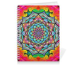 """Тетрадь на пружине """"Mandala HD2"""" - узор, ретро, классика, этно, симметрия"""