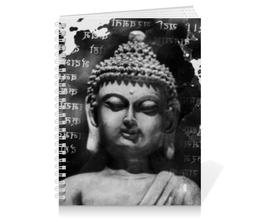"""Тетрадь на пружине """"Будда (Письмена)"""" - философия, buddha, будда, буддизм, духовность"""