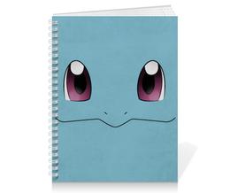 """Тетрадь на пружине """"Сквиртл"""" - нинтендо, nintendo, squirtle, pokemon go, покемон го"""