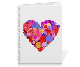 """Тетрадь на пружине """"День всех влюбленных"""" - любовь, день святого валентина, валентинка, i love you, день влюбленных"""