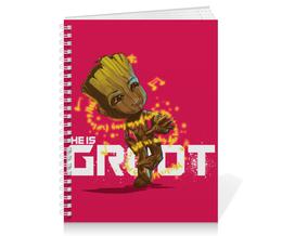 "Тетрадь на пружине ""Грут (Groot)"" - марвел, комиксы, стражи галактики, guardians of the galaxy, groot"