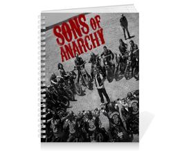 """Тетрадь на пружине """"Сыны анархии / Sons of Anarchy"""" - рисунок, кино, сериал, сыны анархии"""