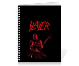 """Тетрадь на пружине """"Slayer"""" - рок, slayer, хэви метал, хардрок, слейер"""
