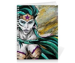 """Тетрадь на пружине """"Чудо-Женщина (Wonder Woman)"""" - комиксы, dc comics, чудо-женщина, wonder woman, вондер вуман"""