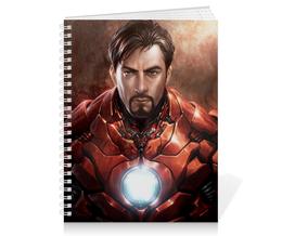 "Тетрадь на пружине ""Железный человек"" - комиксы, марвел, iron man, tony stark, тони старк"