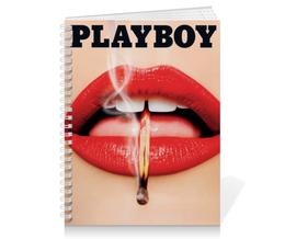"""Тетрадь на пружине """"Playboy Губы"""" - девушка, playboy, губы, плейбой, плэйбой"""