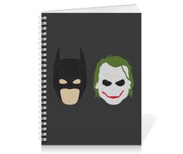 "Тетрадь на пружине ""Бэтмен и Джокер"" - joker, комиксы, batman, джокер, бэтмен"
