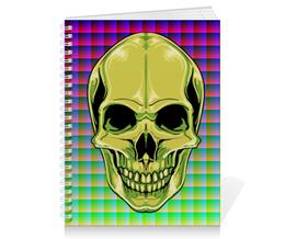 "Тетрадь на пружине ""SKULL"" - skull, череп, арт, стиль, дизайн"