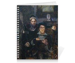 """Тетрадь на пружине """"Гамлет и Офелия (картина Михаила Врубеля)"""" - картина, живопись, шекспир, литература, врубель"""