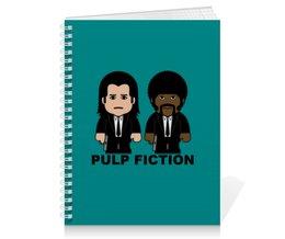 """Тетрадь на пружине """"Pulp Fiction"""" - тарантино, криминальное чтиво, джон траволта, сэмюэл лерой джексон, культовое кино"""