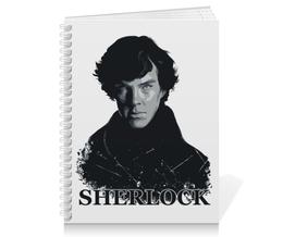 "Тетрадь на пружине ""Шерлок Холмс (SHERLOCK)"" - sherlock, шерлок холмс, бенедикт камбербэтч, сериал sherlock, сериал шерлок холмс"