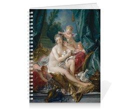 """Тетрадь на пружине """"Туалет Венеры (картина Франсуа Буше)"""" - картина, живопись, мифология, франсуа буше, афродита"""