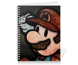 """Тетрадь на пружине """"Марио"""" - игра, усы, mario, марио, mario bros"""