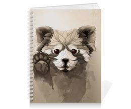 """Тетрадь на пружине """"Малая панда"""" - арт, панда, panda, красная панда"""
