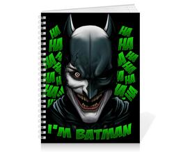 "Тетрадь на пружине ""Бэтмен/Джокер"" - joker, комиксы, batman, джокер, бэтмен"
