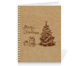 "Тетрадь на пружине ""Новогодняя тетрадь"" - новый год, рождество, new year, christmas, ёлка"