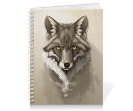 "Тетрадь на пружине ""Лиса "" - арт, лиса, fox"