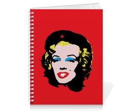 "Тетрадь на пружине ""Che Guevara- Marilyn Monroe"" - чегевара, мерлин монро, голливуд, hollywood, революция"