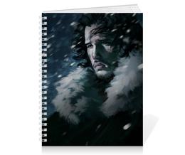 """Тетрадь на пружине """"Game of Thrones"""" - snow, игра престолов, game of thrones, john, джон сноу"""