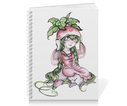 "Тетрадь на пружине ""Девочка-редиска"" - рисунок, аниме, овощ, редиска"