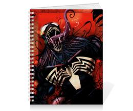 "Тетрадь на пружине ""Веном (Venom)"" - comics, комиксы, марвел, человек-паук, веном"