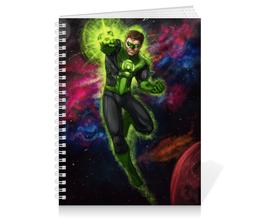 """Тетрадь на пружине """"Зеленый фонарь (Green Lantern)"""" - комиксы, dc, зеленый фонарь, green lantern, dc comics"""
