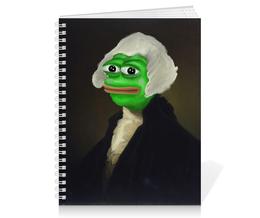 "Тетрадь на пружине ""Sir Pepe"" - мем, грустная лягушка, sad frog, pepe frog, pepe the frog"
