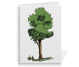 """Тетрадь на пружине """"Сказочное дерево"""" - рисунок, деревья, природа, иллюстрация, скетч"""