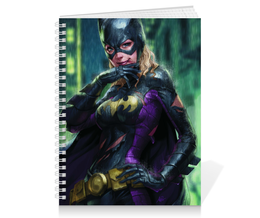 "Тетрадь на пружине ""Batgirl"" - девушка, girl, batman, бэтмен"