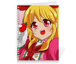 "Тетрадь на пружине ""Anime Girl"" - девушка, girl, аниме, мульт, фэн-арт"